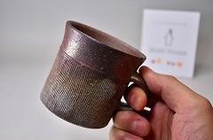 クワイエットハウスの備前焼マグカップ